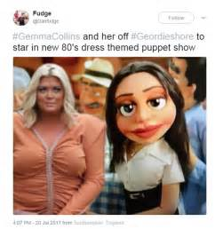 Gemma Collins Memes - gemma collins s dress is mocked with memes on twitter
