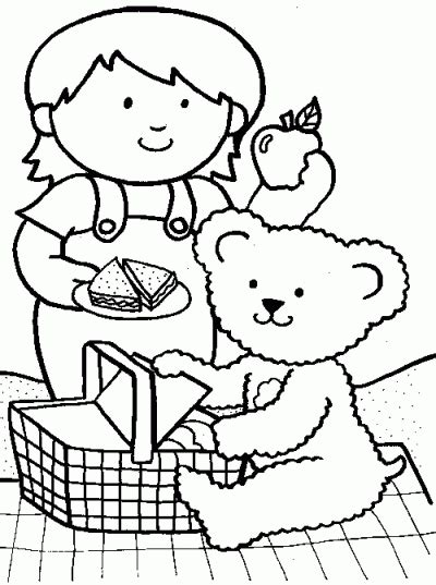 picnic coloring pages preschool picnic friends coloring page fun family crafts