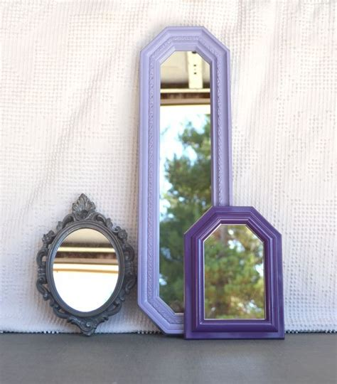 upcycled mirror lilac purple grey upcycled ornate mirror collection modern