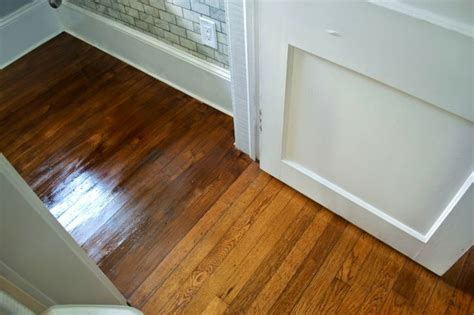 Restaining Wood Floors by Staining A Wood Floor For The Home