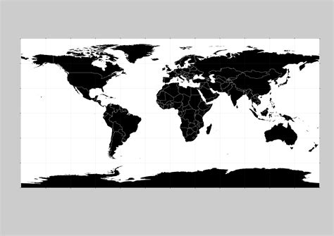 world vector black images  vector world map