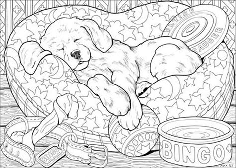puppy line art copic