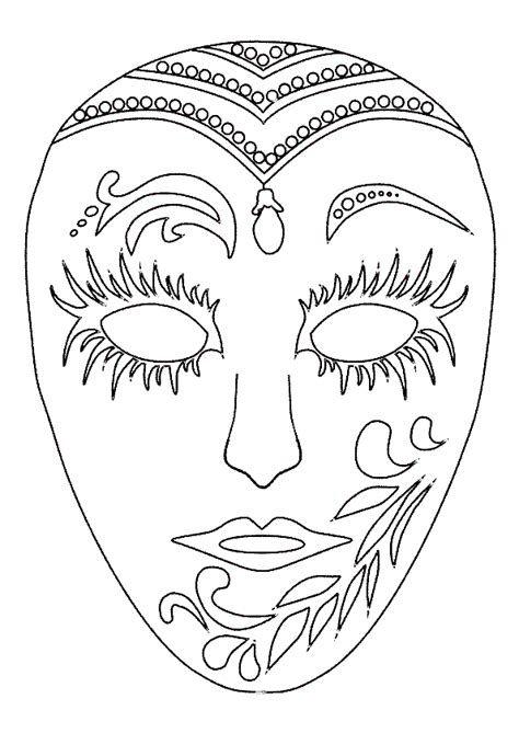 Coloriage masque carnaval sur Hugolescargot.com