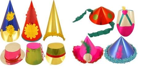 How To Make Paper Hats For Adults - 50 novelty carnival foil paper hats assorted colours