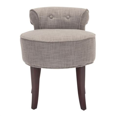 megan birch wood vanity stool in grey mcr4546d
