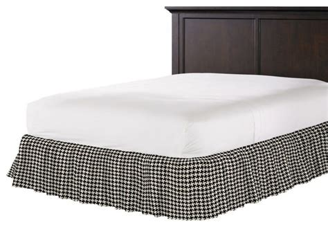 black and white bed skirt black and white houndstooth ruffle bed skirt