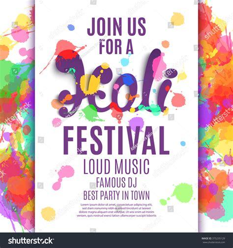 festival poster template holi festival poster template flyer brochure vectores en