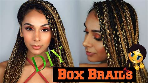 safest method for box braids how to make diy box braids on non afro hair easy fast