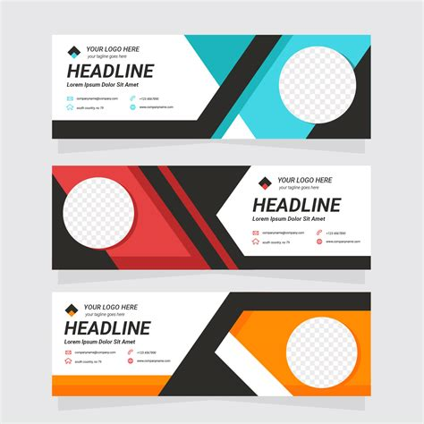 header templates free corporate web header template free vector