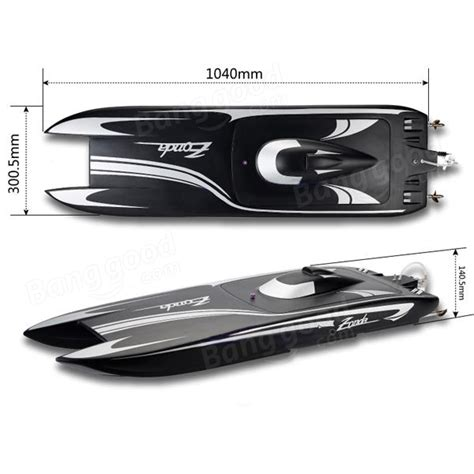 zonda rc boat tfl 1040mm zonda 2 4g rc boat with double motor 1133 sale