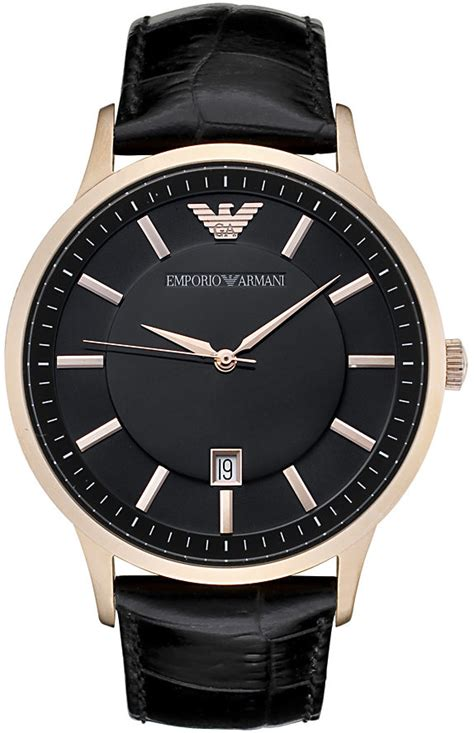 Armanie Classic 4 s emporio armani classic black leather band ar2425