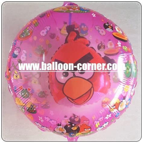 Balon Terbang Karakter Angrybird Hijau Untuk Dekorasi Ulang Tahun balon foil karakter angry bird 2 in 1 balloon corner