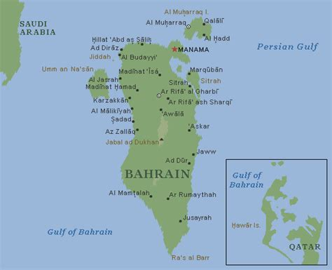 physical map of bahrain bahrein bergen karte