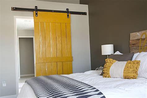 Diy Bedroom Barn Door Creative Diy Sliding Doors Tutorials Four Generations