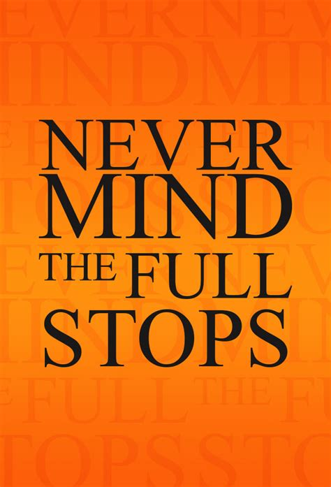 Never Mind never mind the stops tv show 2006