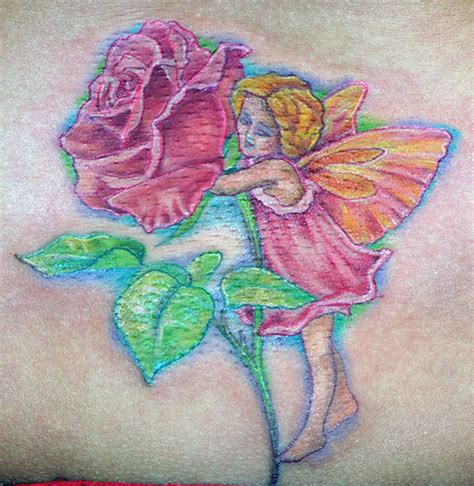 rose and fairy tattoo fairies images designs