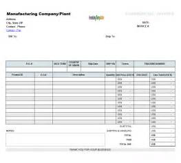 empty invoice template blank commercial invoice template