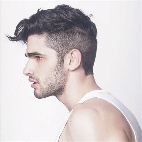 men small jaw hairstyle side comb hairstyles for men hairstyle for women man