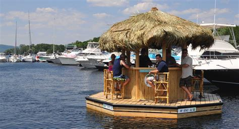 a first look at lake george floating tiki bar times union - Pedal Boat Bar Jacksonville