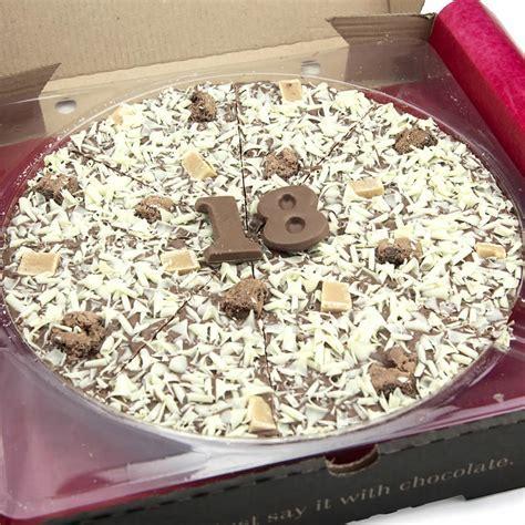 18th Birthday Chocolate Pizza   10''   Buy from Prezzybox.com