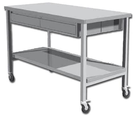 tavolo da lavoro in acciaio tavolo strumentario chirurgico in acciaio inox con ruote