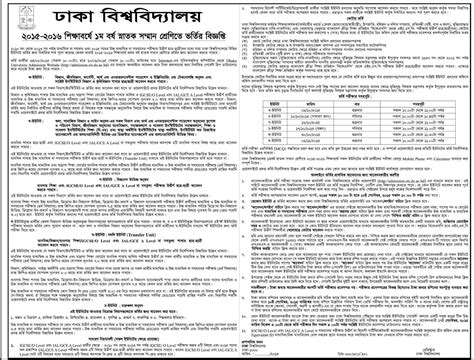 Mba Admission 2017 Du by Dhaka Admission Test Result Notice 2017 2018
