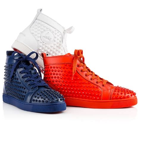 christian louboutin mens white sneakers christian louboutin louis spikes s sneakers white