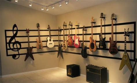 music room ideas best 25 guitar display ideas on pinterest guitar room