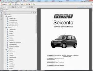 Fiat Palio Owners Manual Pdf Fiat Seicento Service Repair Workshop Manual