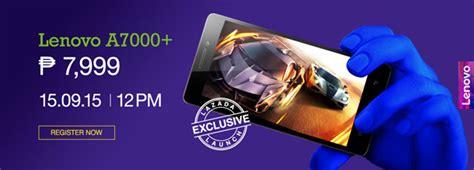 Hp Lenovo A7000 Plus Lazada lenovo announces a7000 plus exclusively available on lazada