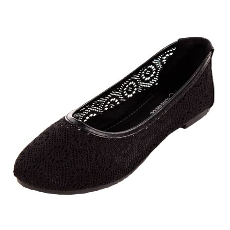 ballet flats slip on shoes casual ballerina loafer slipper ebay womens lace ballet flats mesh crochet slip on casual shoes