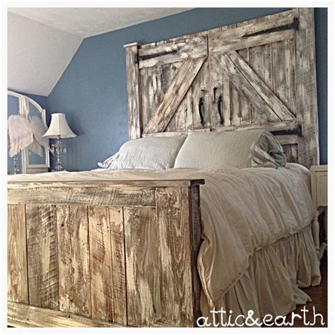 Barn Door Headboard by Barn Door Headboard And Footboard