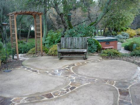 Remodel Backyard by Zspmed Of Backyard Cement Patio Ideas