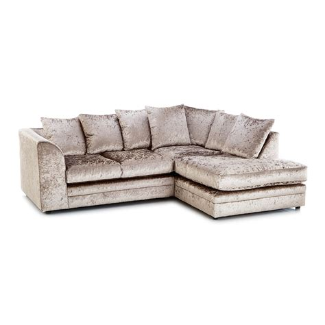 mink corner sofa crushed velvet furniture sofas beds chairs cushions