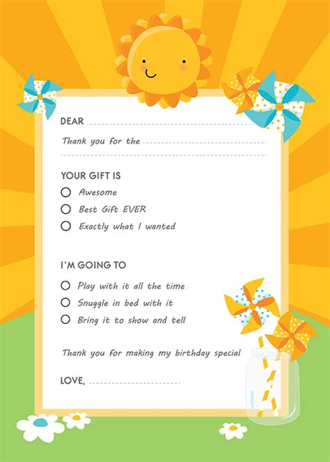 Fill In Thank You Cards