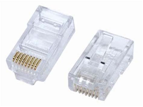 Konektor Rj45 rj45 connector 166 crimp on rj 45 connector for cat5 cable