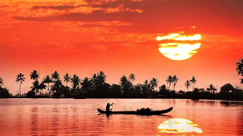 4k Wallpaper Kerala | kerala backwaters sunset reflection wallpaper wallpaper