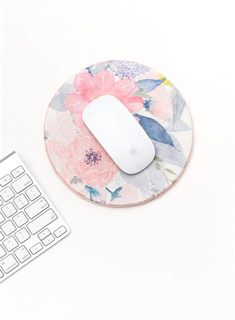 diy desk pad diy floral mouse pad for the crafted
