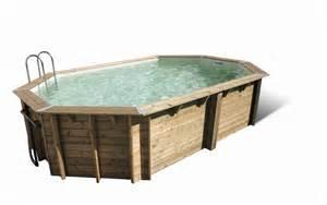 piscine hors sol bois piscines hors sol 224 prix discount en acier ou bois