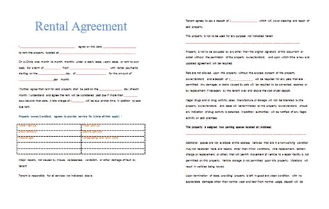 Exle Of A Lease Agreement Letter Doc 464603 Rental Agreement Doc Rental Agreement Template Write A Agreement 97