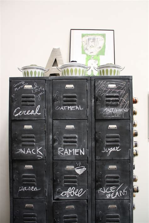 Locker Furniture by Chalkboard Paint Lockers Could Easily Be Used For Sewing