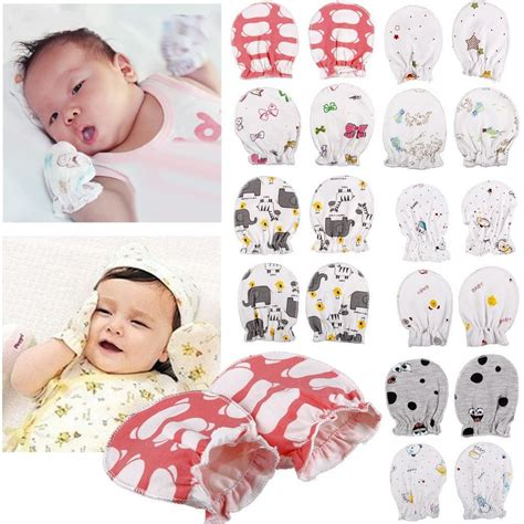 newborn gloves 2 pair newborn baby boy infant cotton handguard anti scratch mittens gloves ebay