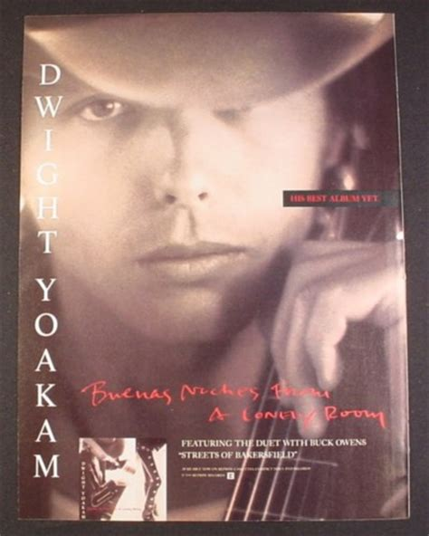 buenas noches from a lonely room magazine ad for dwight yoakam buenas noches from a lonely room album 1988 magazines ads and