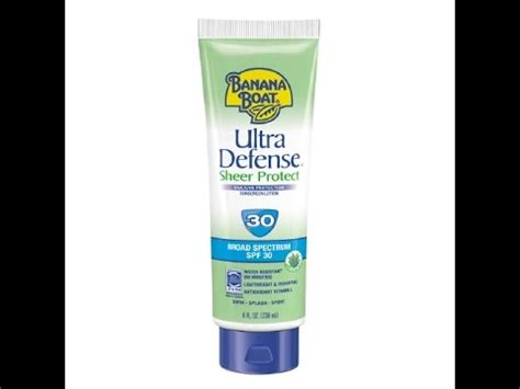 banana boat sunscreen not working banana boat ultra defense sheer protect sunscreen youtube