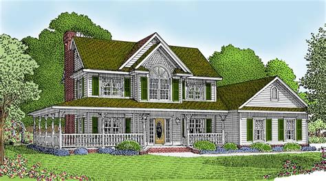 country house plans with wrap around porches awesome house plan with wrap around porch 10 country