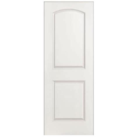 hollow interior doors home depot masonite textured 2 panel arch top hollow primed