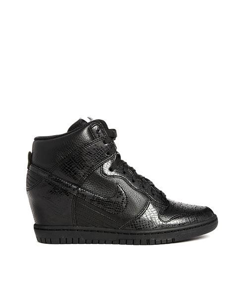 Nike Wedges Sky Dunk Colour Kode Ss6186 nike nike dunk sky hi black snake effect wedge trainers