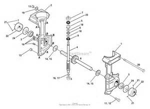 troy bilt 12216 tiller edger parts diagram for transmission assembly