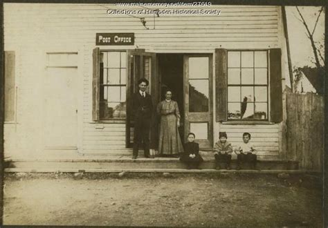 Highlands Post Office by Maine Memory Network Hden Highlands Post Office Ca 1908