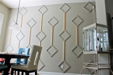 Unique Wall Treatments Design Ideas Diy Atomic Wall Diamonds In 6 Steps Home